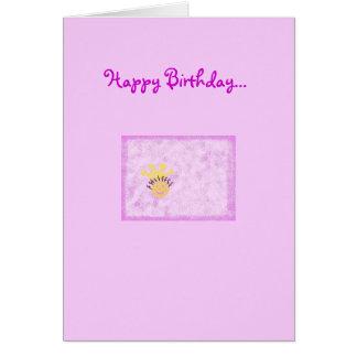 Happy Birthday to my little Princess Card