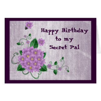 Happy Birthday to my Secret Pal Greeting Card
