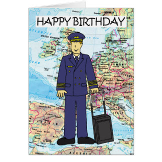 Happy Birthday to Pilot Card