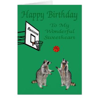 Happy Birthday To Sweetheart Greeting Card