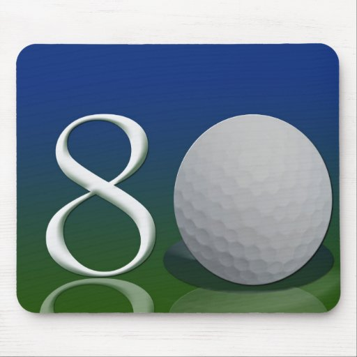 Happy Birthday to the 80 year old golf nut Mouse Mat