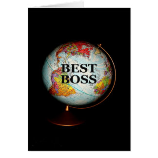 Happy Birthday To The Best Boss On Earth! Greeting Card