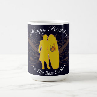 Happy Birthday To The Best Surfer Siluete Mug