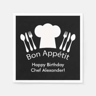 Happy Birthday to the Chef!  Bon Appetit Paper Napkin