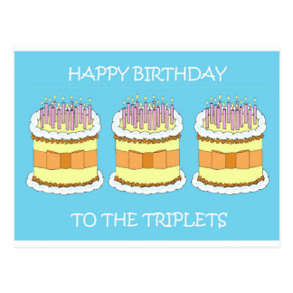 Happy Birthday to the triplets. Postcard