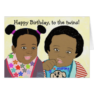 Happy Birthday, to the twins Card