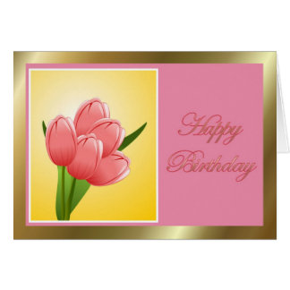 Happy Birthday to wife from husband with flowers Card