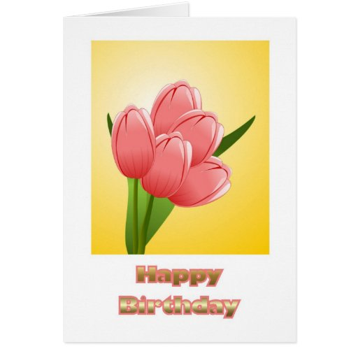 Happy Birthday to wife from husband with flowers Greeting Cards