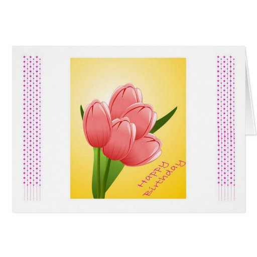 Happy Birthday to wife from husband with flowers Cards