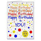 Happy Birthday to You From Group Card