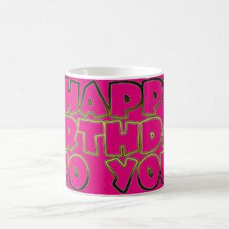 Happy Birthday to You, Pink Gold Typography Mug