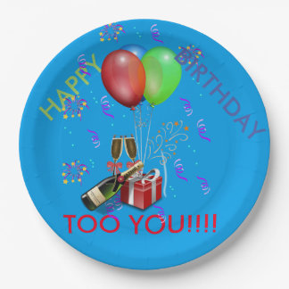 Happy birthday too you paper plates 9 inch paper plate