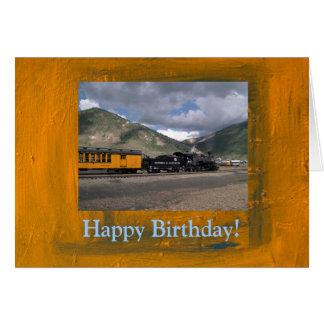 Happy Birthday Train Card