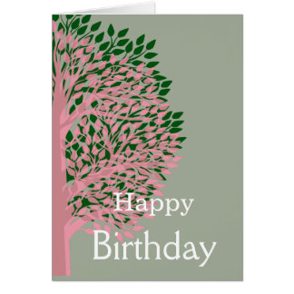 Happy Birthday Tree Card