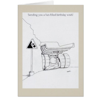 Happy birthday trucker cards funny trucker cartoon