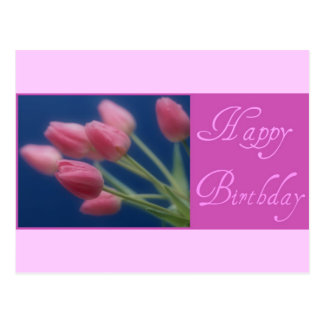 Happy Birthday Tulips Postcard