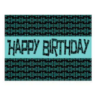 Happy Birthday Turquoise Happy Brithday Postcard