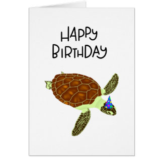 Happy Birthday Turtle card