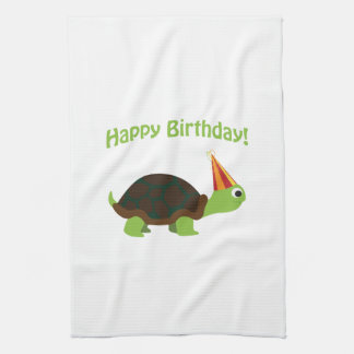 Happy Birthday! Turtle Kitchen Towel