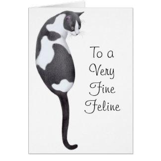 Happy Birthday Tuxedo Cat Card