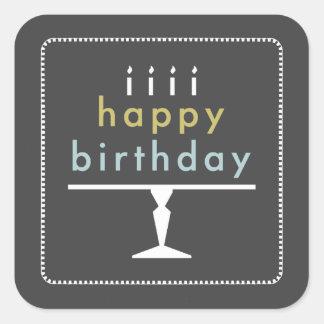 Happy Birthday Typography Stickers