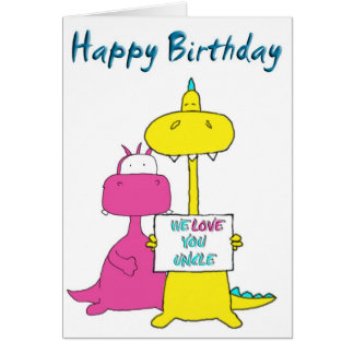 Happy Birthday Uncle Card