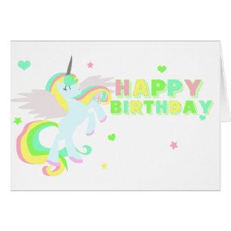 Happy Birthday Unicorn Card