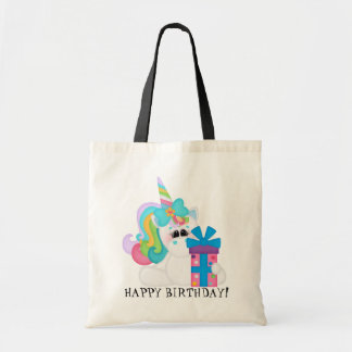 Happy Birthday Unicorn kids tote bag
