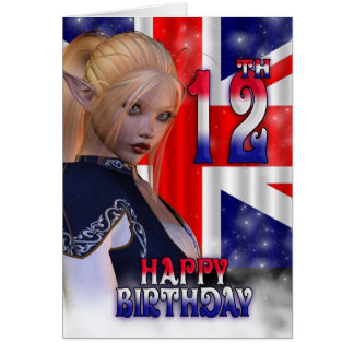 Happy Birthday Union Jack, Elf Card