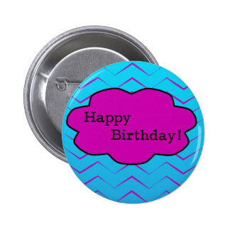 Happy Birthday Unique Purple Wallpaper Cloud 2 Inch Round Button