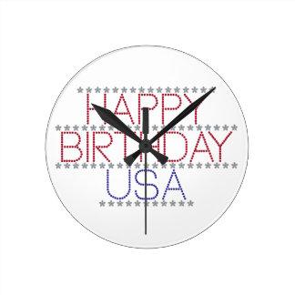 happy-birthday-usa clocks