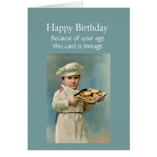 Happy Birthday Vintage Because I like you Card