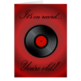 Happy Birthday vinyl record vinyl album retro Card