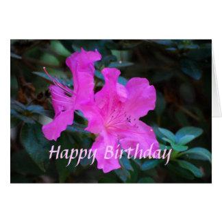 Happy Birthday Violet Azaleas Card