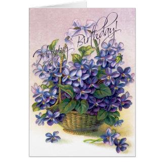 Happy Birthday Violets Card
