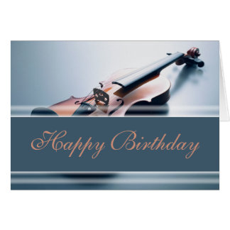 Happy Birthday - Violin Card