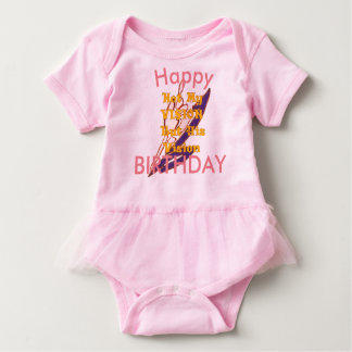 Happy Birthday Vision Baby Bodysuit