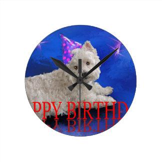 Happy Birthday Westie Clocks
