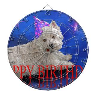 Happy Birthday Westie Dartboard