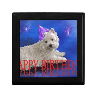 Happy Birthday Westie Gift Box