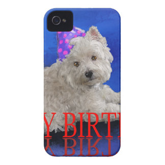 Happy Birthday Westie iPhone 4 Cover