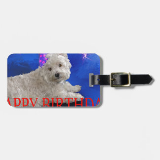 Happy Birthday Westie Luggage Tag