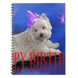 Happy Birthday Westie Notebook