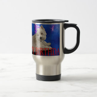 Happy Birthday Westie Travel Mug