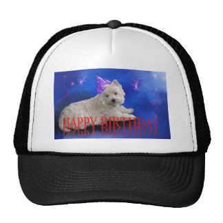 Happy Birthday Westie Trucker Hat