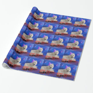 Happy Birthday Westie Wrapping Paper