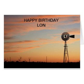 Happy Birthday Windmill SilhouetteCard Card