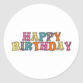 Happy Birthday Wishes Round Sticker