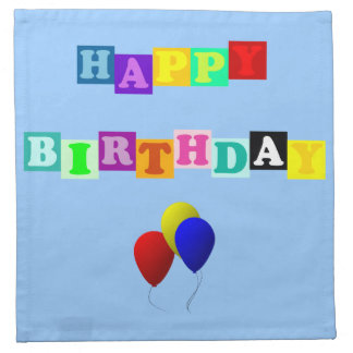 Happy Birthday With Balloons Napkin