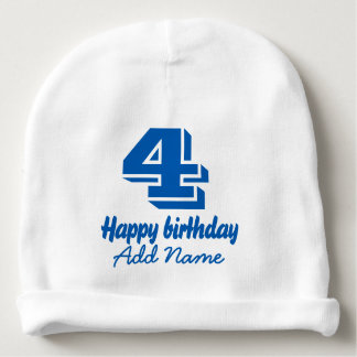 Happy Birthday with Name Baby Beanie